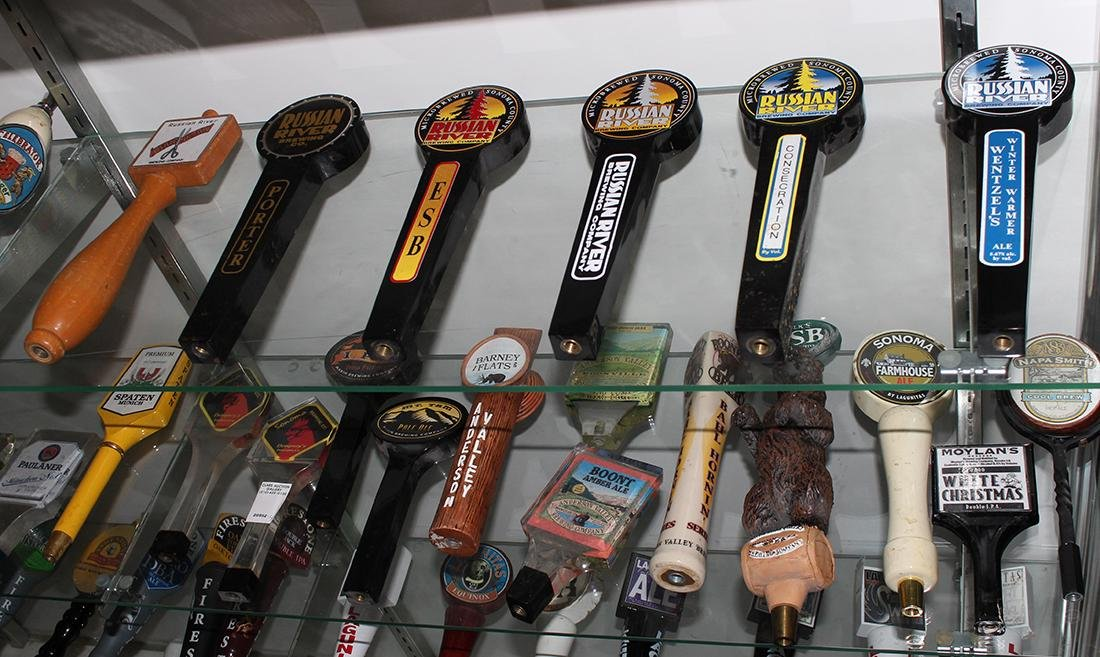 (lot of 18) Californian beer tap handles, including