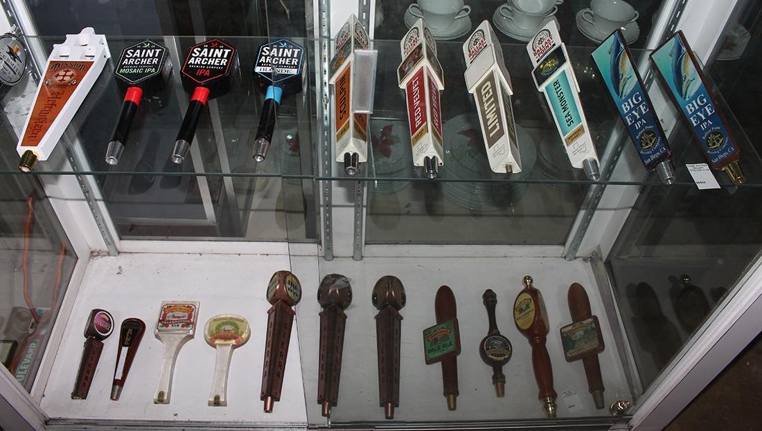 (lot of 34) Beer tap handles, including Coronado - 2