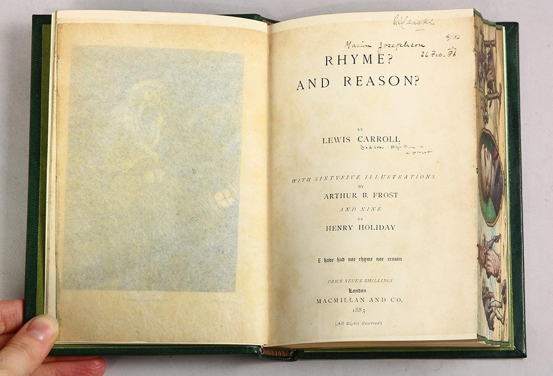 Rhyme and Reason, 1st edition with fore-edge painting - 4