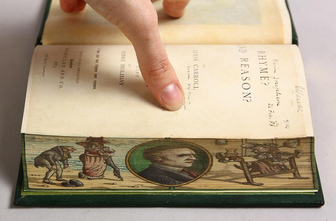 Rhyme and Reason, 1st edition with fore-edge painting - 5