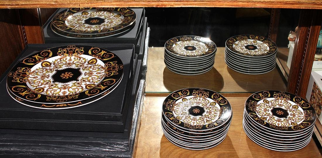 (lot of 18) Versace for Rosenthal porcelain plates,