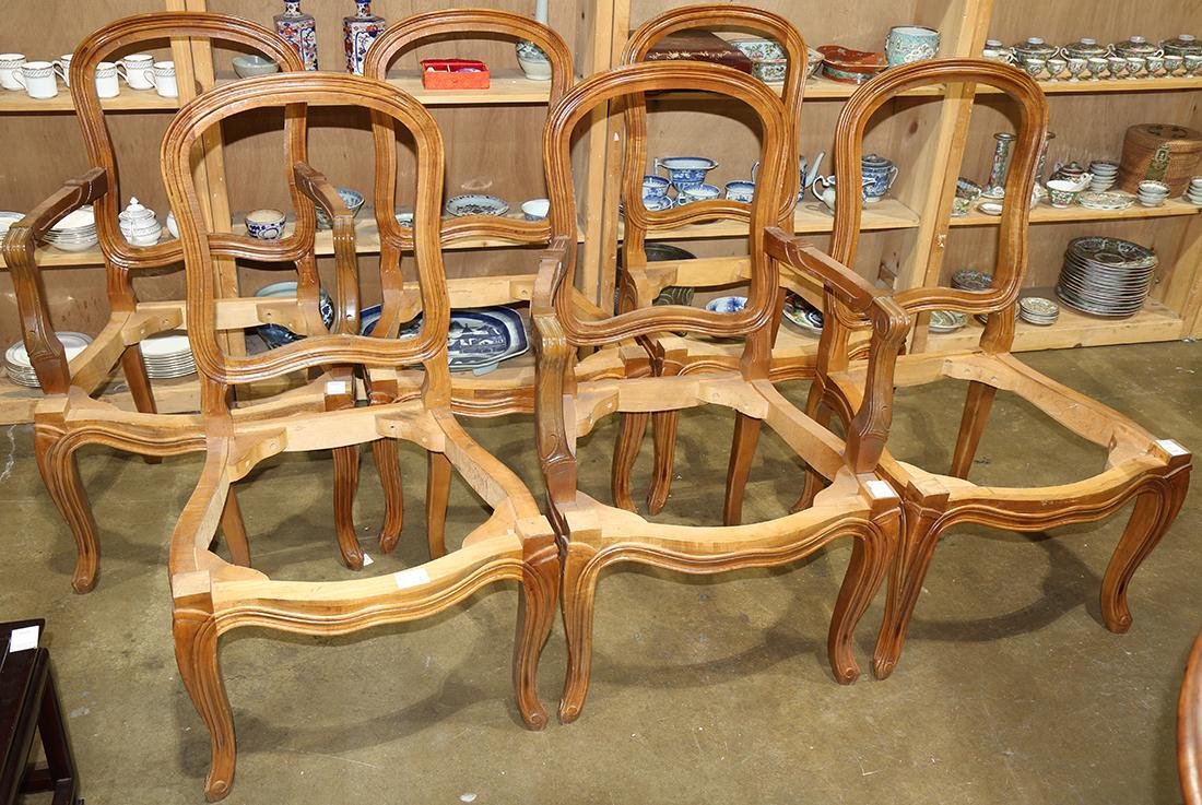 (lot of 7) Victorian walnut dining suite