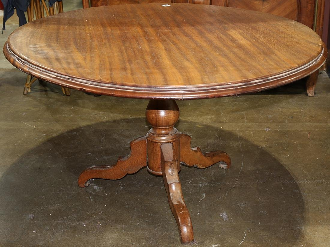 (lot of 7) Victorian walnut dining suite - 4