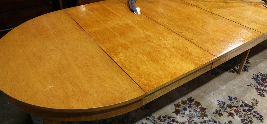 Mid-Century Modern maple center table - 2