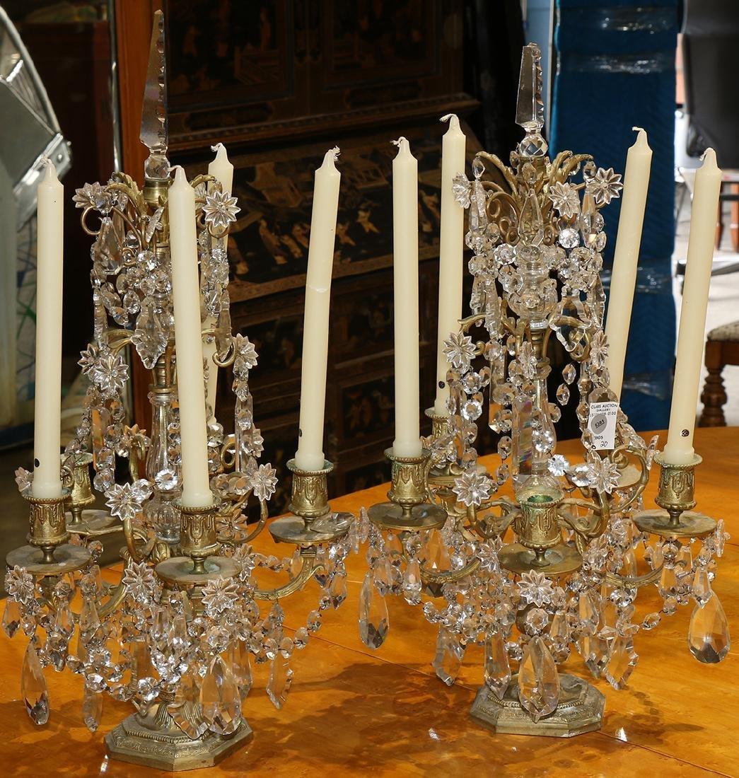 (lot of 2) Louis XV style candelabra, having five