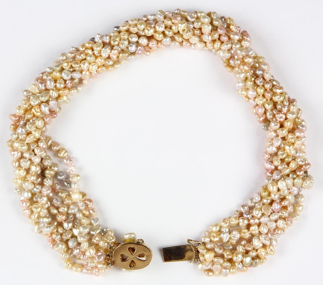 Freshwater cultured pearl and 14k yellow gold - 2
