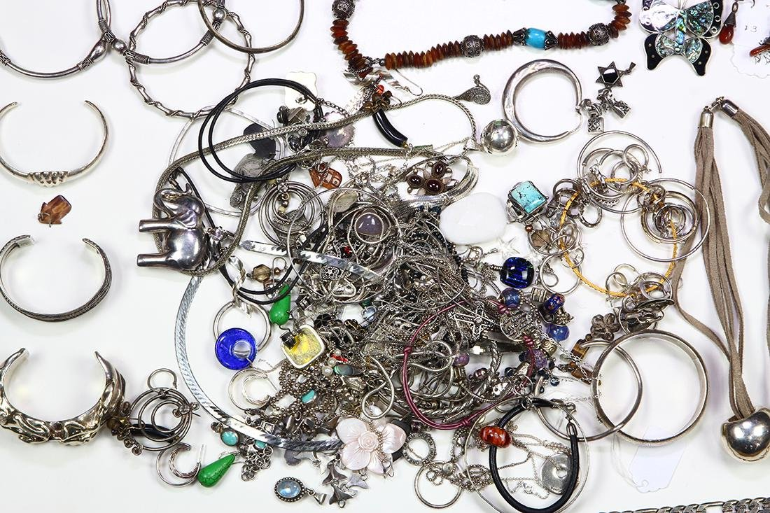 Collection of multi-stone, silver and metal jewelry - 2