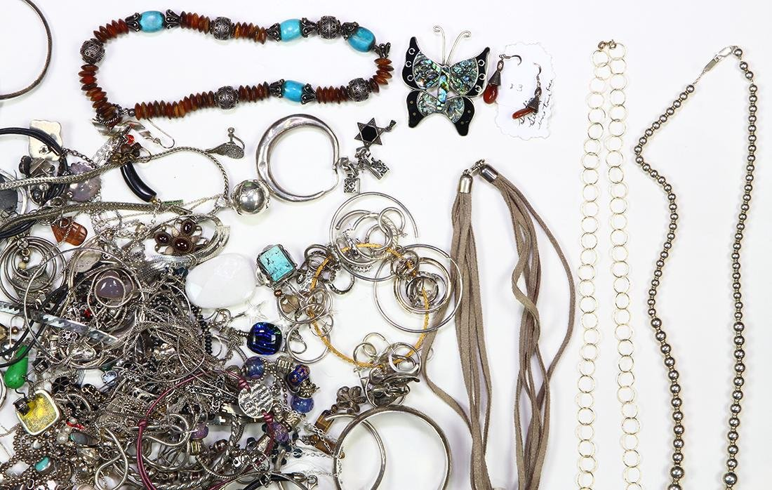 Collection of multi-stone, silver and metal jewelry - 3