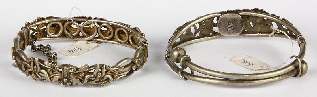 (Lot of 2) Chinese and silver bracelets - 2