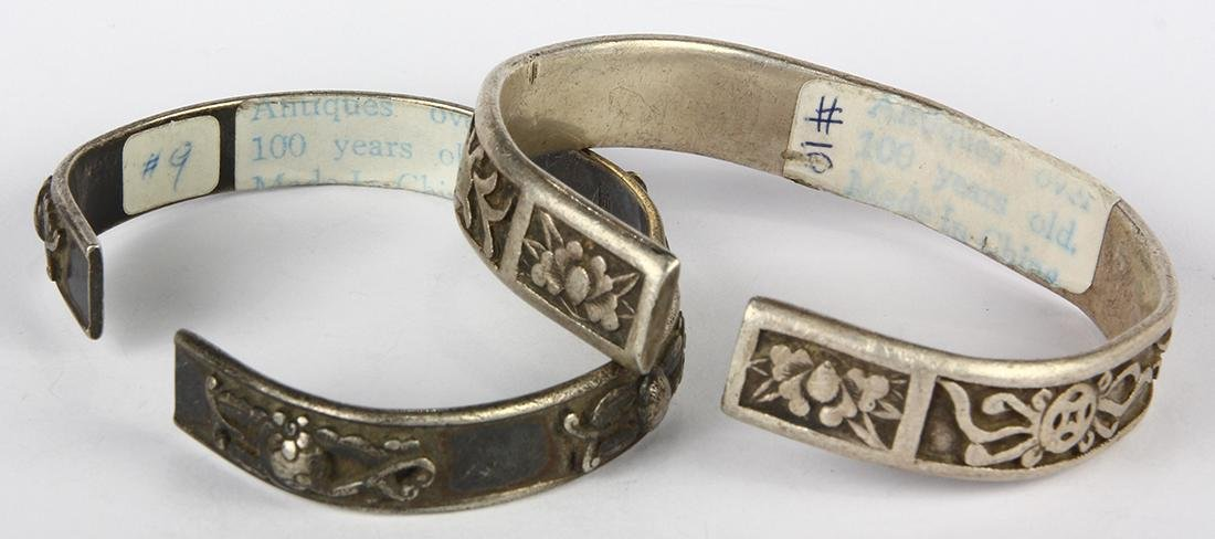 (Lot of 2) Chinese silver bracelets - 2