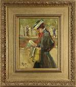 Painting, Lady Reading Newspaper