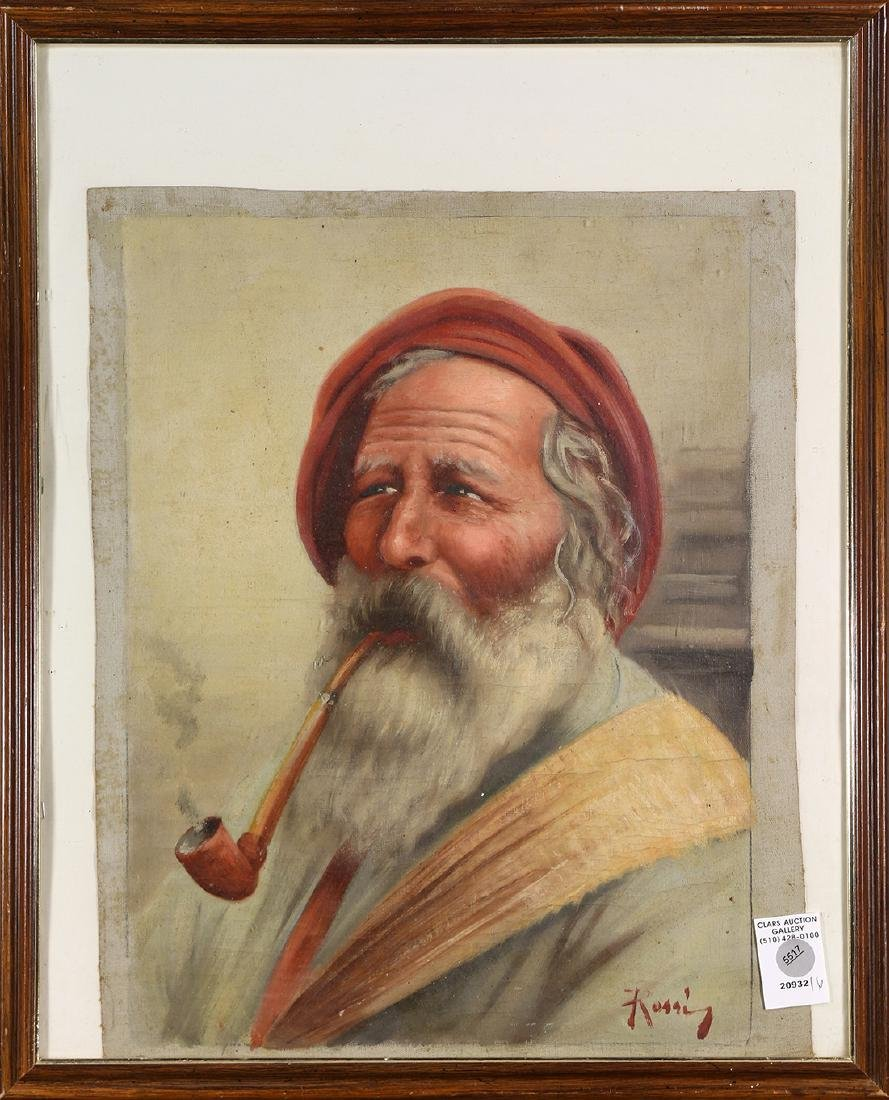 Painting, Bearded Man with Pipe
