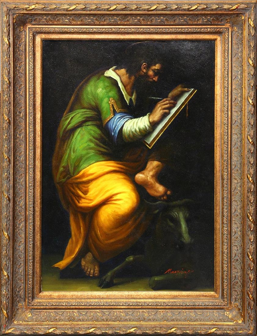 Painting, Classical Seated Figure Writing
