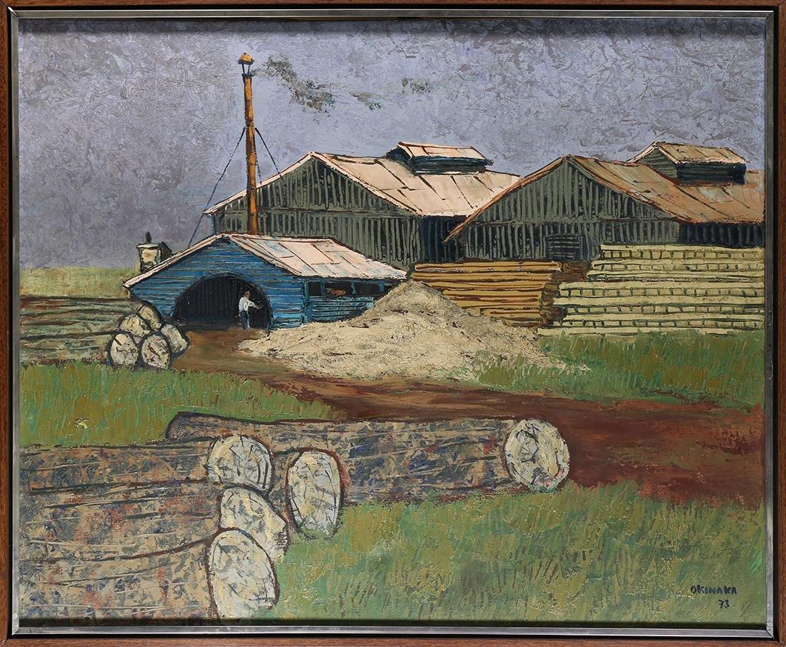 Painting, Massao Okinaka