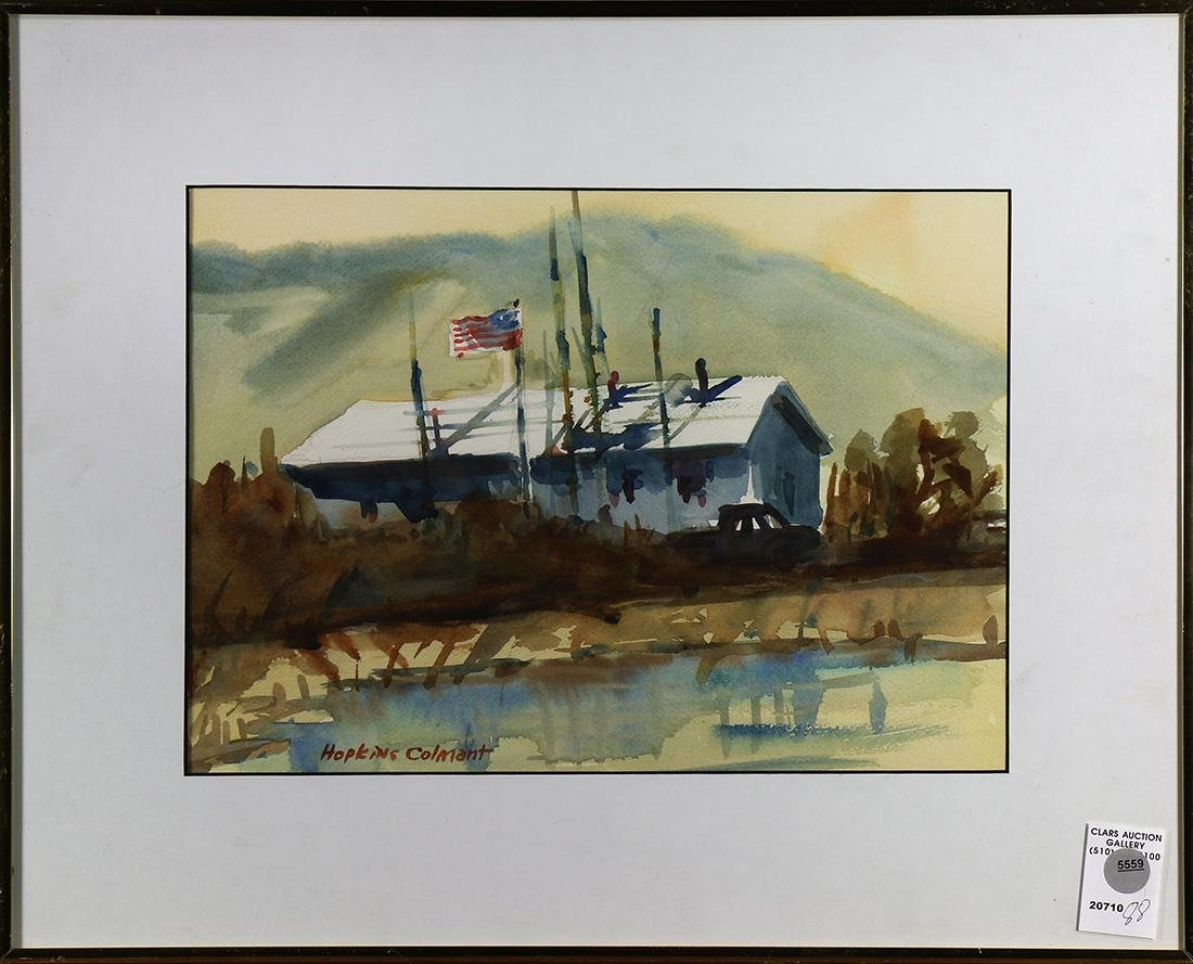 Watercolor, Amercan Homestead