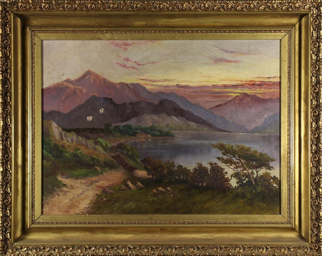 Painting, House on the Lake