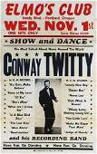 Offset Conway Twitty Elmos Club Concert Poster