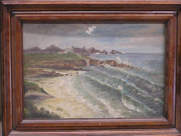 4003: American early 20th, seascape, oil/board