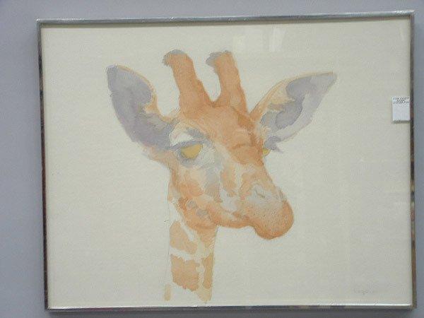 4005: William Crutchfield, watercolor, American 20th