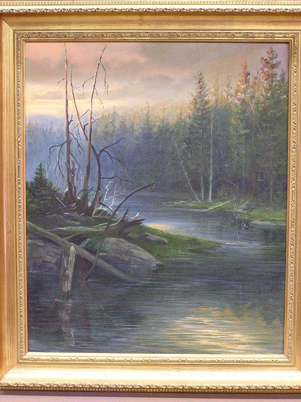 """4007: Oil/Canvas """"Last Sunray"""" by Vercinsky"""