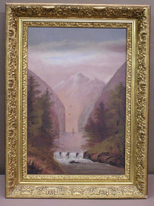 4009: 19th C Landscape oil/canvas
