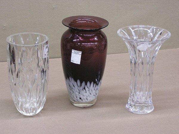 4012: Red Art Glass Vase & Mikasa Vase