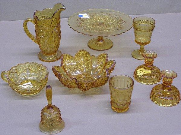 4013: Amber Glass Bowls