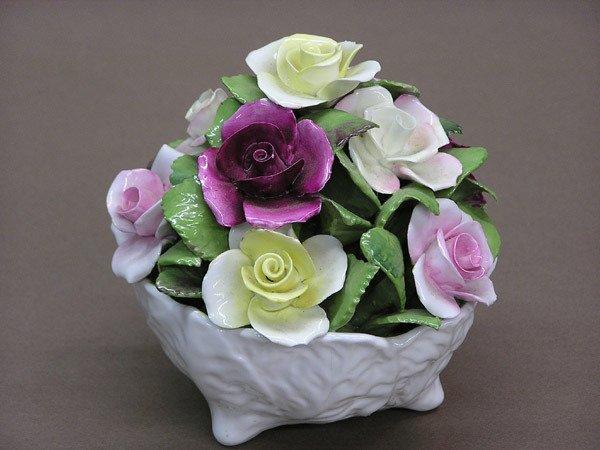 4019: Coalport Porcelain Flowers