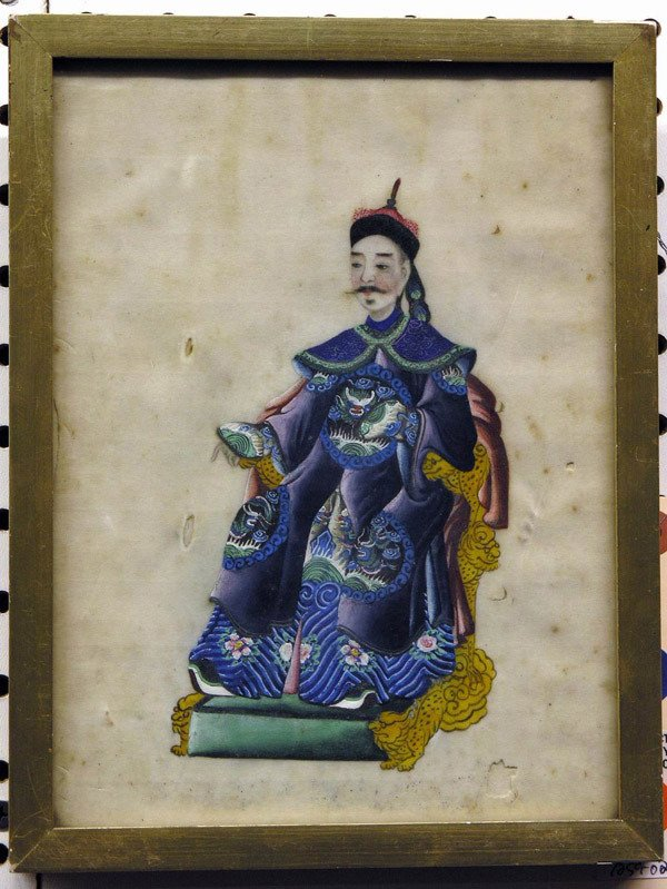 4024: China Trade/Export, 19th c., watercolor/pith