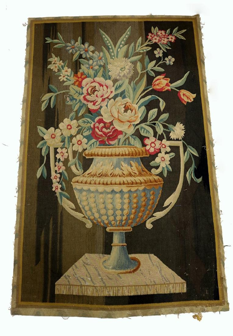 Continental Aubusson Entre-Fenetre woven tapestry