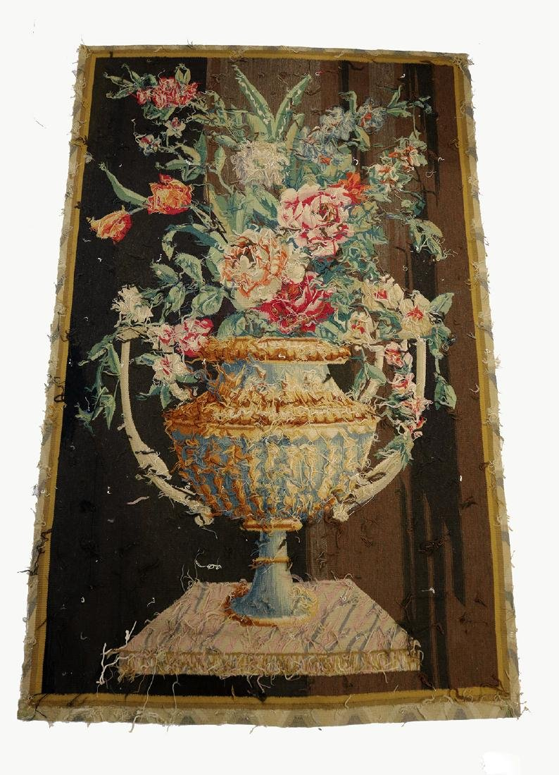 Continental Aubusson Entre-Fenetre woven tapestry - 2
