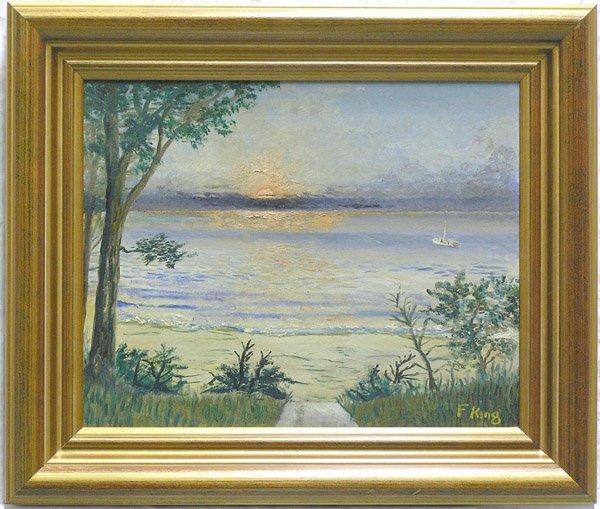 4000: Painting F. King Shore Beach Landscape