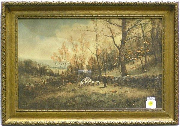 4002: Print Prang Art Pastoral Landcape