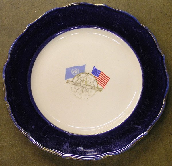 6205: World Trade Club dinner plate Syracuse