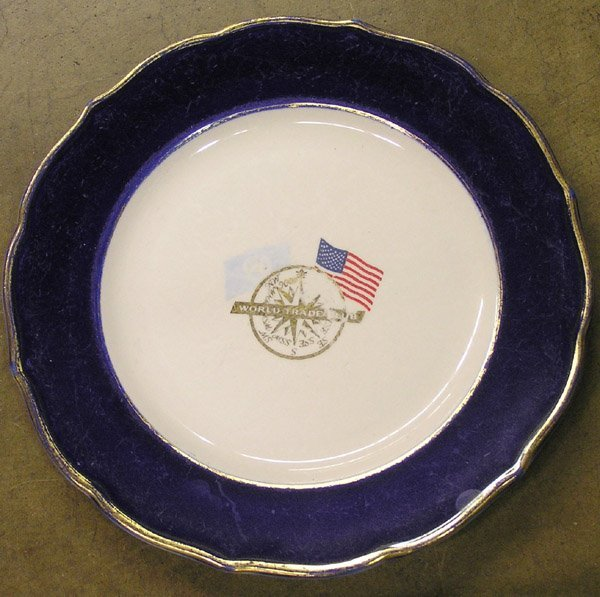 6207: World Trade Club dinner plate Syracuse