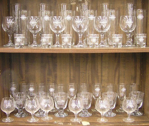6208: World Trade Club glassware