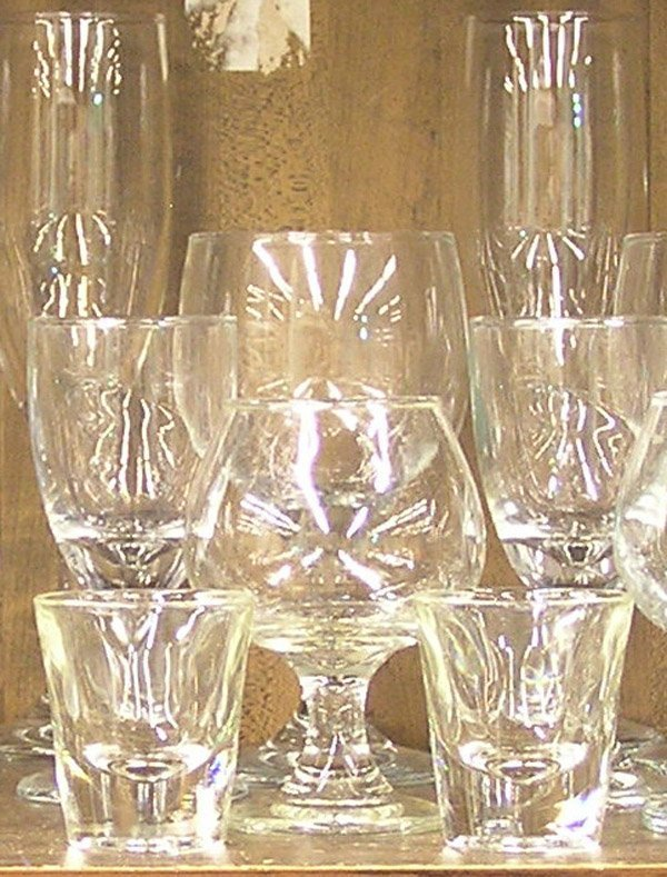 6213: Glassware barware brandy wine whisky