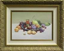 6419: Painting Gribennikov Russian Still Life