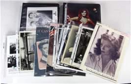 (lot of 50+) Celebrity photograph and ephemera group,