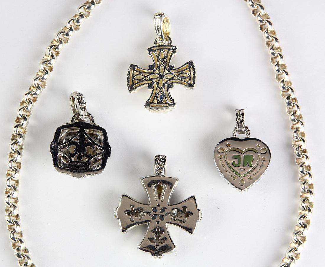 (Lot of 5) Judith Ripka multi-stone, sterling silver - 2