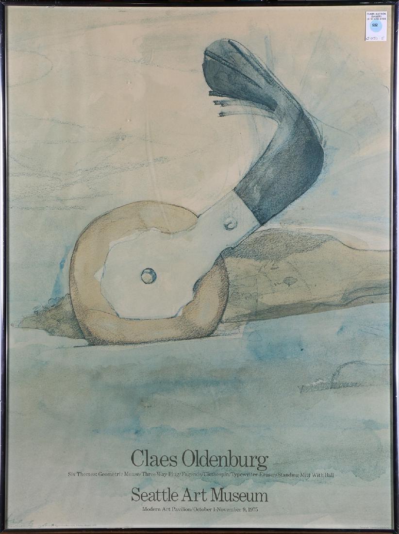 Claes Oldenburg vintage exhibition poster