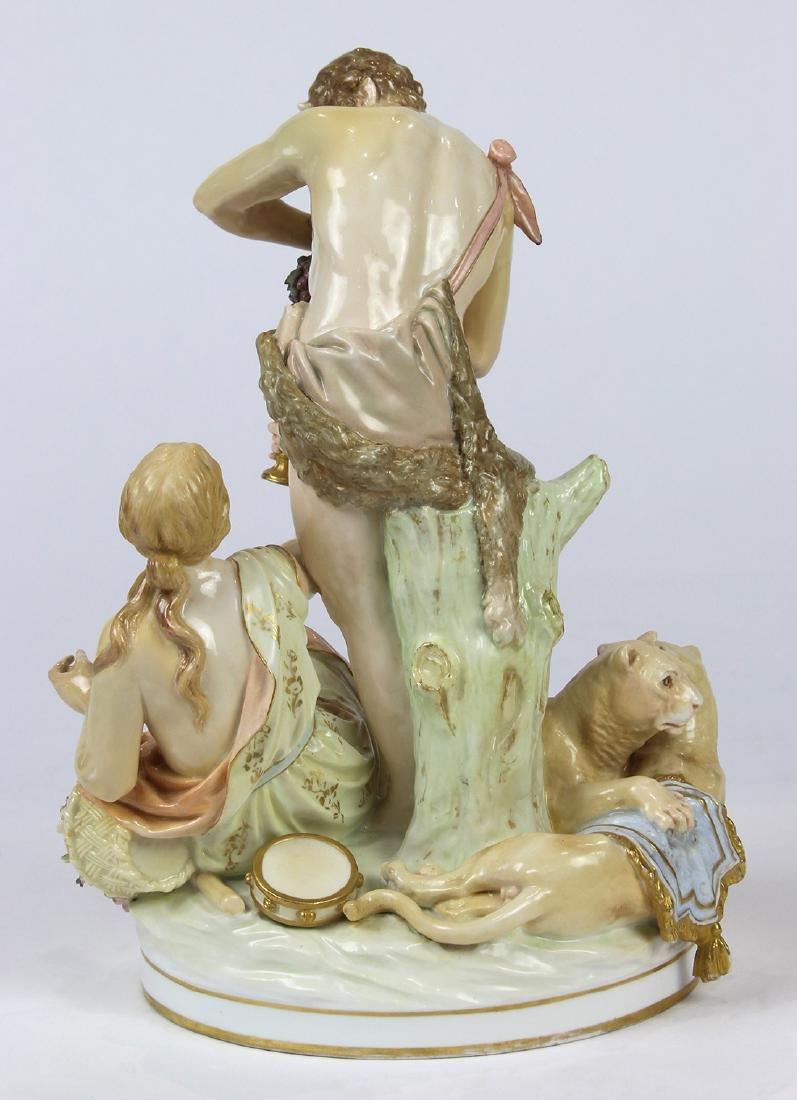 German porcelain Bacchanalian figural group circa 1800, - 3