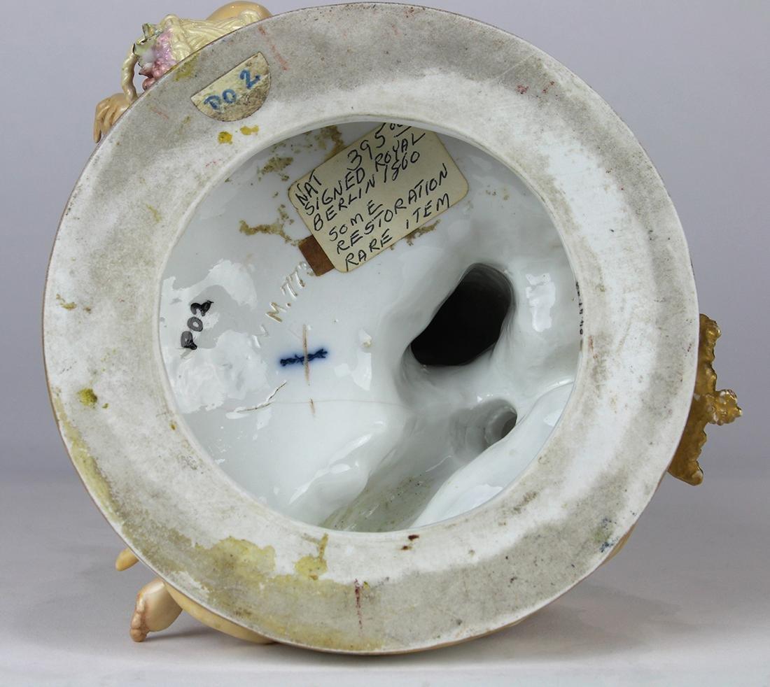 German porcelain Bacchanalian figural group circa 1800, - 5