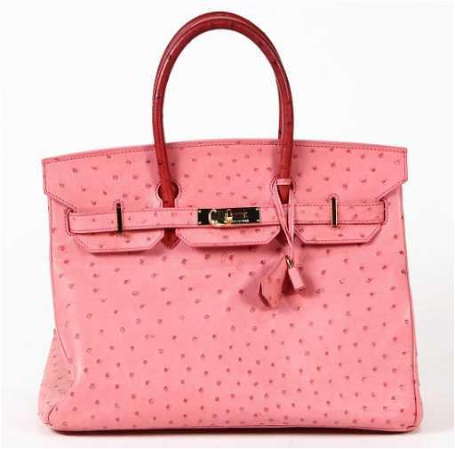 1989310af88 Hermes pink ostrich Birkin 35 handbag