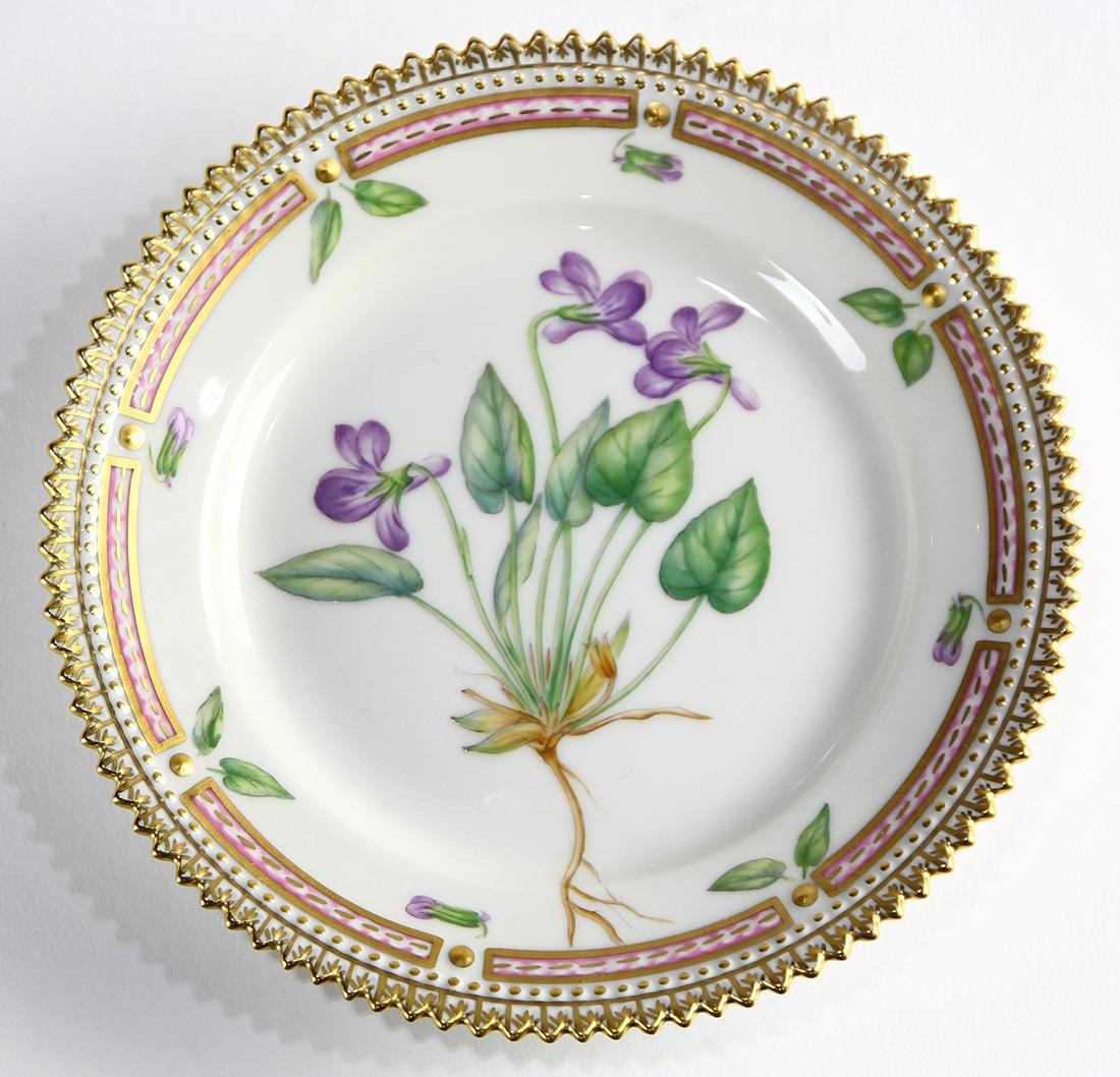 (lot of 8) Royal Copenahagen Flora Danica bread plates - 3