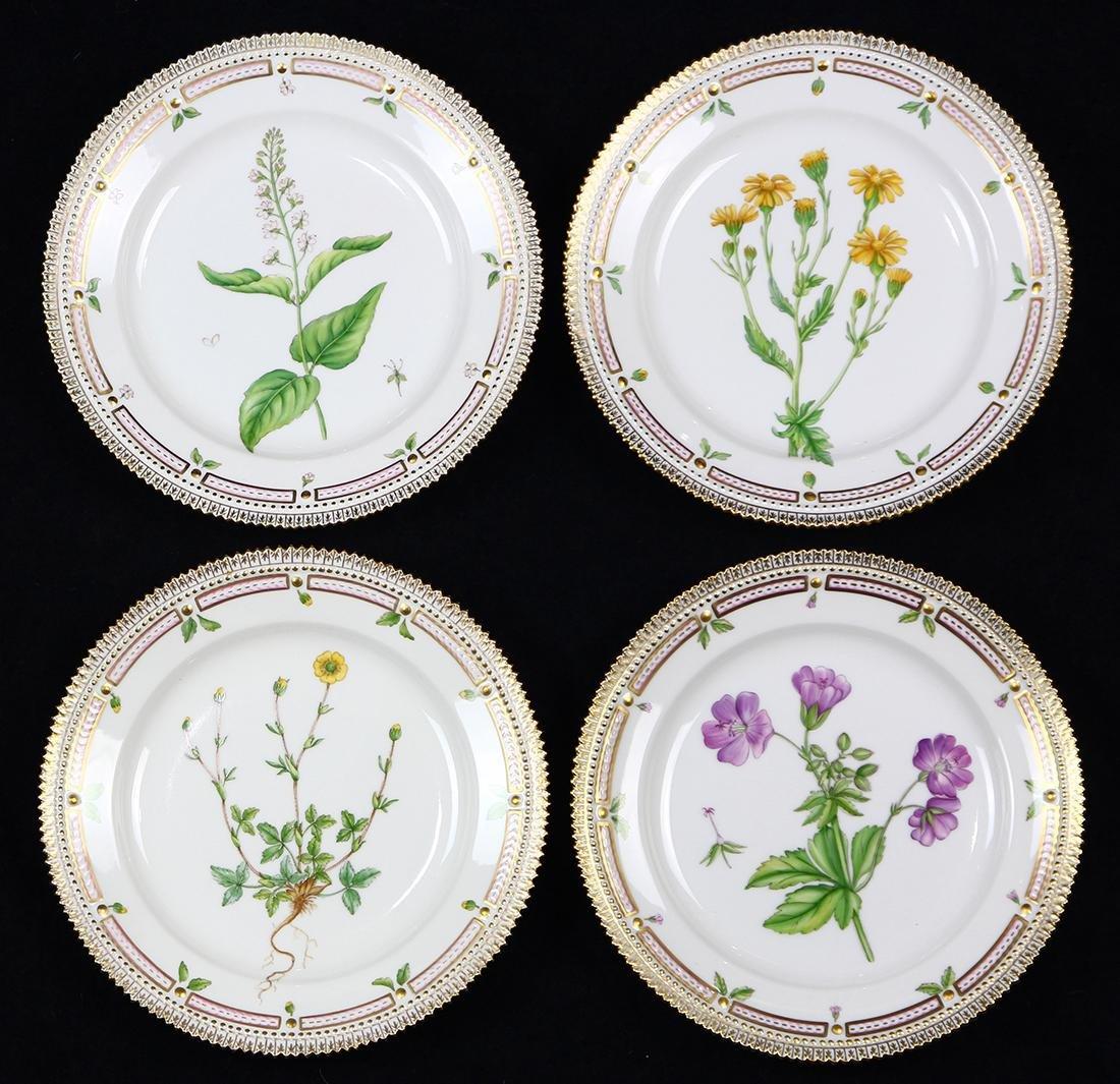 (lot of 4) Royal Copenahagen Flora Danica luncheon