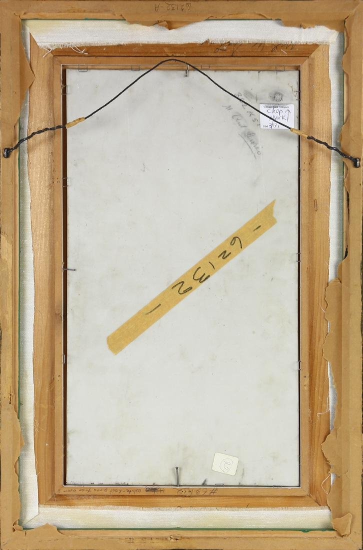 Framed hand painted porcelain plaque, depicting - 2