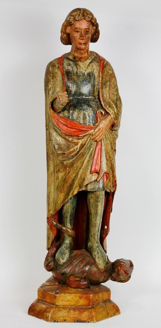 Spanish Colonial polychrome decorated Santos figure,