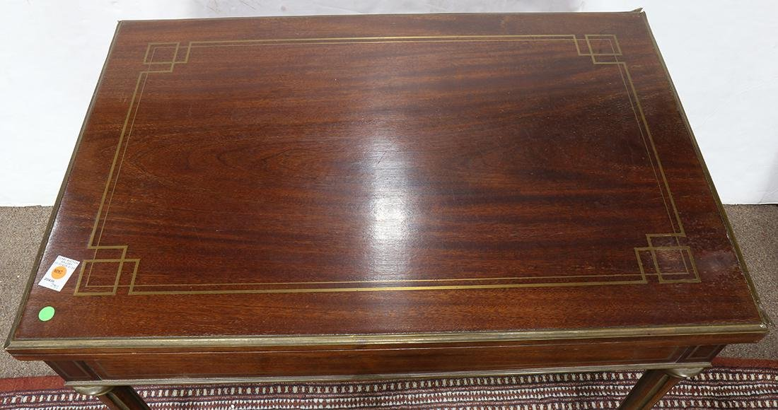 Regency style mahogany roulette and backgammon games - 3