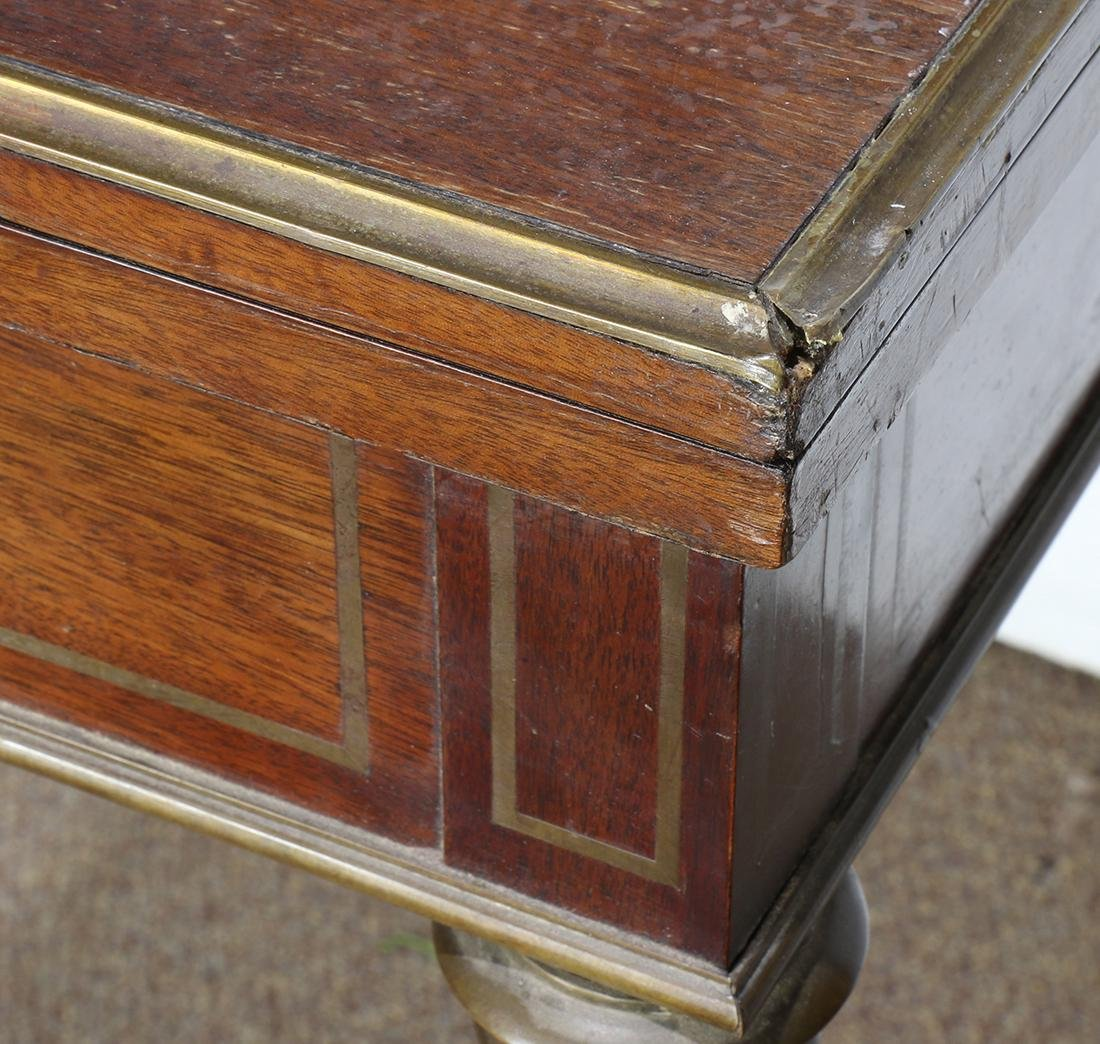 Regency style mahogany roulette and backgammon games - 4